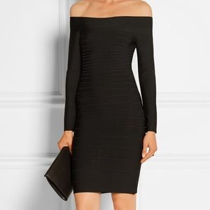 Herve Leger Dresses - SOLD HERVE LEGER NWT Signature Essential Dress XS